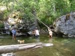 Hiking up Kingfisher Creek