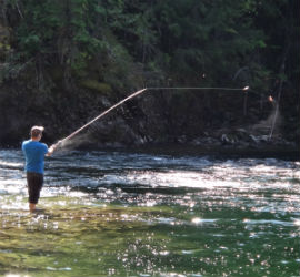 Fishing on Shuswap River